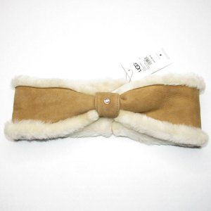 UGG WOMEN'S BOW HEADBAND CHESTNUT COLOR ONE SIZE